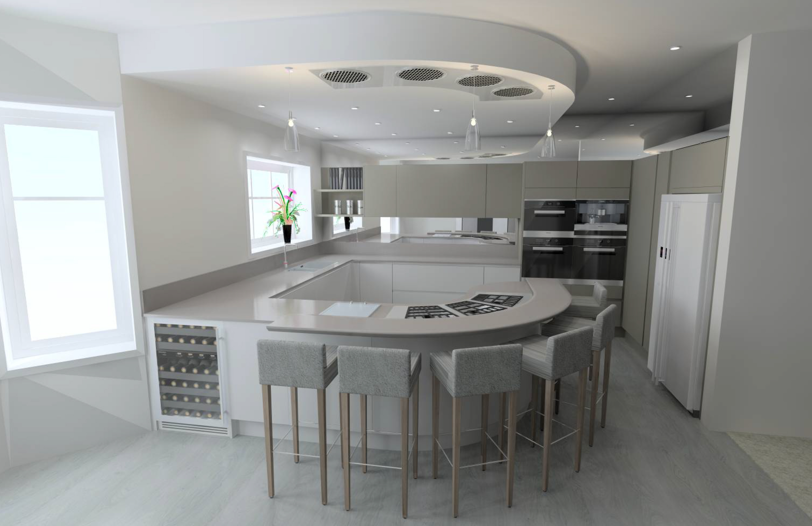 Contemporary Kitchen in Cockfosters