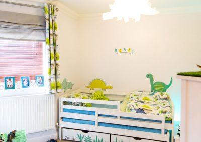 Dinosaur inspired toddler room